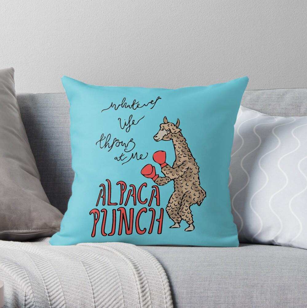 Alpaka-Punsch Dekokissen