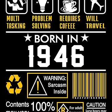Birthday Gift Ideas - Born In 1946 by wantneedlove