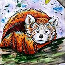 Inktober Red Panda by NiamhWitch