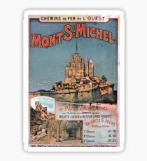 Gustave Fraipont Affiche Ouest Mont St Michel Sticker