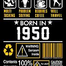 Birthday Gift Ideas - Born In 1950 by wantneedlove