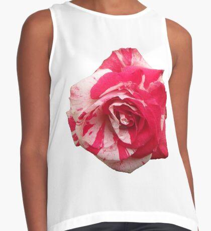eine zauberhafte Rose, rot, weiß, Rosen, Sommer Kontrast Top