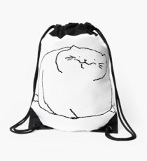 Fat Kitty Drawstring Bag