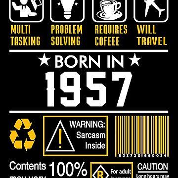 Birthday Gift Ideas - Born In 1957 by wantneedlove