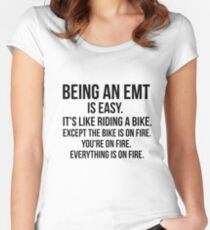 Being An EMT Women's Fitted Scoop T-Shirt