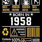 Birthday Gift Ideas - Born In 1958 by wantneedlove