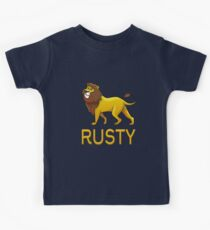 Rusty Lion Drawstring Bags Kids Tee
