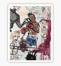 Basquiat V Warhol  Sticker