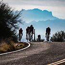 Powerman - Bike Silhouette  by John Heywood