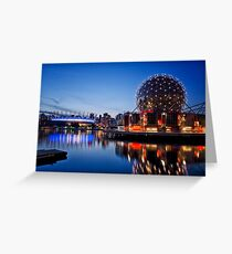 Telus Building & BC Place Stadium, Vancouver Greeting Card
