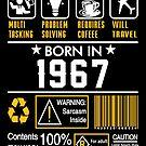 Birthday Gift Ideas - Born In 1967 by wantneedlove