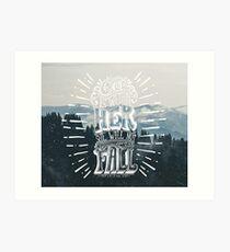 Christian Quote Art Print