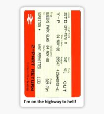 Glasgow train ticket ACDC Sticker
