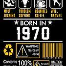 Birthday Gift Ideas - Born In 1970 by wantneedlove