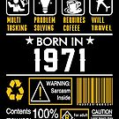 Birthday Gift Ideas - Born In 1971 by wantneedlove