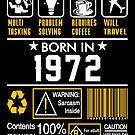 Birthday Gift Ideas - Born In 1972 by wantneedlove