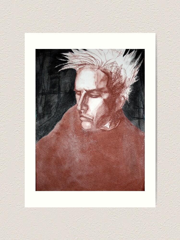 Alternate view of self portrait as sung by joplin Art Print