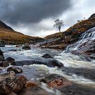 Glen Etive. River Etive. Waterfall. Highland Scotland. by PhotosEcosse