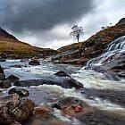 Glen Etive. River Etive. Waterfall. Highland Scotland. by Barbara  Jones ~ PhotosEcosse
