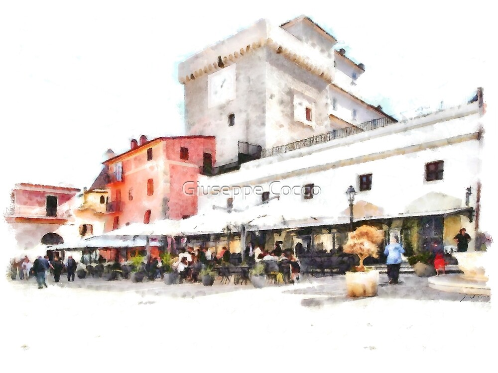 San Felice Circeo restaurant in the  square by Giuseppe Cocco