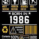 Birthday Gift Ideas - Born In 1986 by wantneedlove
