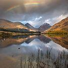 Glen Etive. Autumn. Lochan nam Urr. Rainbow. Scottish Highlands. by PhotosEcosse