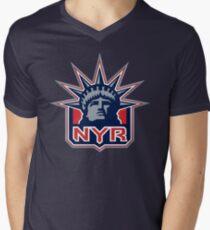 NEW YORK RANGERS HOCKEY Men's V-Neck T-Shirt