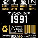 Birthday Gift Ideas - Born In 1991 by wantneedlove