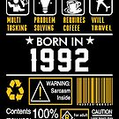 Birthday Gift Ideas - Born In 1992 by wantneedlove