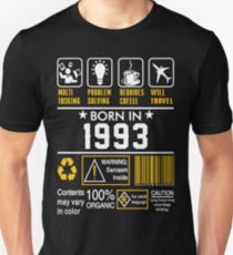 Birthday Gift Ideas - Born In 1993 Unisex T-Shirt