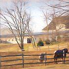 The Horses of Hicks Farm, West Chester, Pennsylvania by Polly Peacock