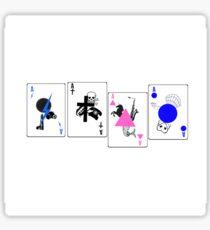 Through The Eras Playing Cards Sticker