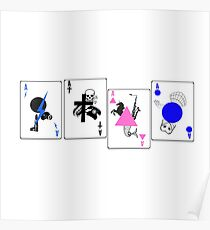 Through The Eras Playing Cards Poster