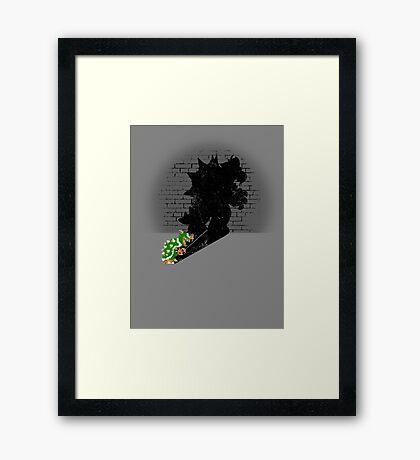 Becoming a Legend - Bowser Framed Print