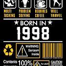Birthday Gift Ideas - Born In 1998 by wantneedlove