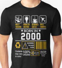 Birthday Gift Ideas - Born In 2000 Unisex T-Shirt