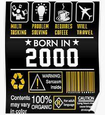 Birthday Gift Ideas - Born In 2000 Poster