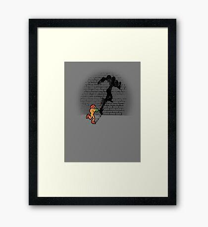 Becoming a Legend- Samus Aran Framed Print