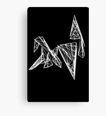 Origami Swan Canvas Print