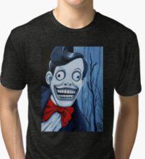 Mr. Chuckle Teeth, The X-Files, Horror Art, Scary, Creepy Tri-blend T-Shirt