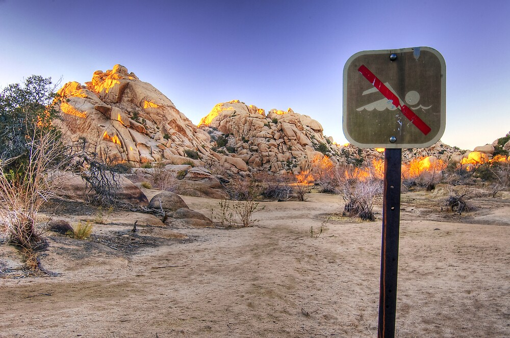 No Swimming in the Desert by Justin Mair
