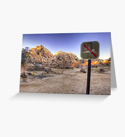No Swimming in the Desert Greeting Card