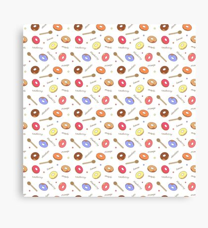 Donuts Homemade Canvas Print