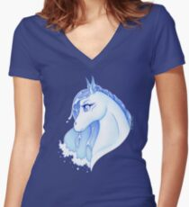 Nadi hippocamp - spirit of water Women's Fitted V-Neck T-Shirt