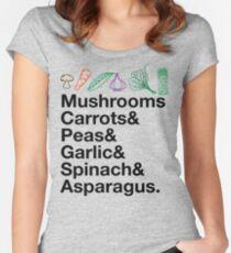 GARDENING PLANT Lover  Locavore Urban Farmer Vegan DIY Farming Backyard Garden Women's Fitted Scoop T-Shirt
