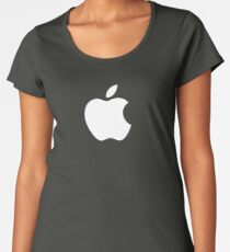 Apple Logo White Women's Premium T-Shirt