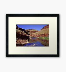 Horseshoe Gorge, Western Australia Framed Print