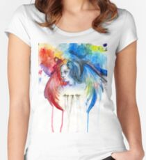 Give Me Love - Watercolor Women's Fitted Scoop T-Shirt