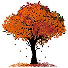 Autumn Leaves Tree by pda1986