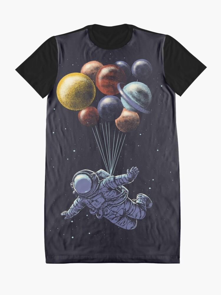 Alternative Ansicht von Raumfahrt T-Shirt Kleid